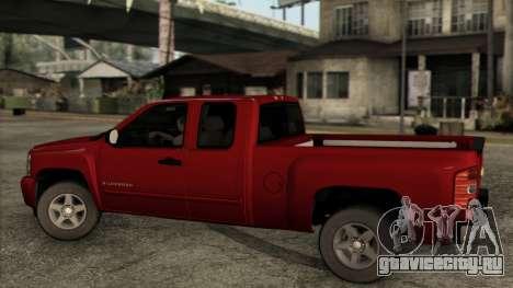 Chevrolet Silverado 1500 LT 2010 для GTA San Andreas вид сзади слева