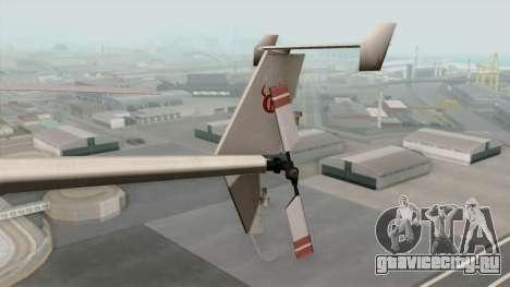AH-6J Little Bird для GTA San Andreas вид сзади слева