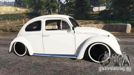 Volkswagen Beetle для GTA 5 вид слева