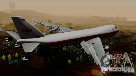 Boeing 747 TWA для GTA San Andreas вид слева