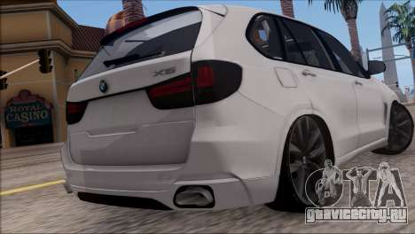 BMW X5 F15 BUFG Edition для GTA San Andreas вид сзади слева