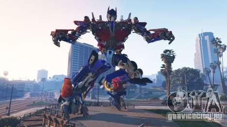 Статуя Оптимус Прайм для GTA 5 второй скриншот