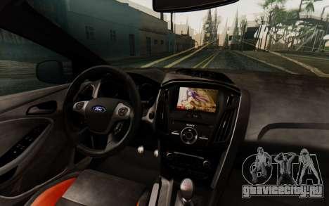 Ford Focus ST 2012 для GTA San Andreas вид изнутри
