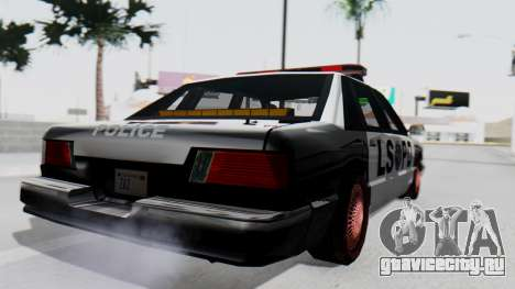 Police LS with Lightbars для GTA San Andreas вид слева