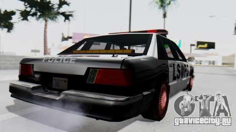 Police LS with Lightbars для GTA San Andreas вид слева