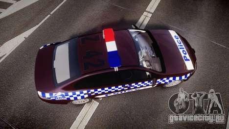 Ford Falcon FG XR6 Turbo NSW Police [ELS] v3.0 для GTA 4 вид справа