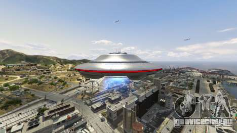 UFO Mod 1.1 для GTA 5 седьмой скриншот
