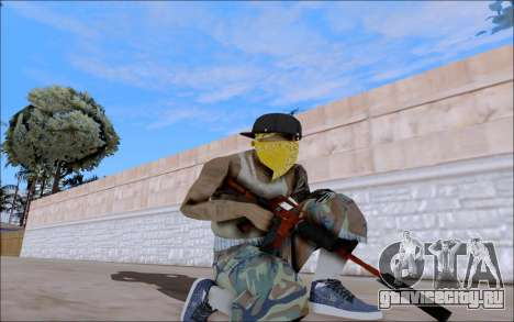 M4A1 Crimzone для GTA San Andreas