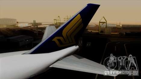 Boeing 747 Singapore (Old) для GTA San Andreas вид сзади слева