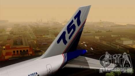 Boeing 757-200 (N757A) для GTA San Andreas вид сзади слева