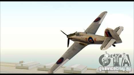 Hawker Hurricane MK IA для GTA San Andreas вид слева
