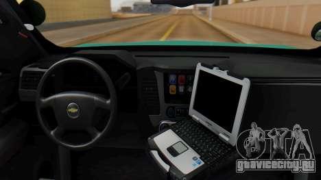 SACFR 2015 Tahoe v1 для GTA San Andreas вид сзади слева