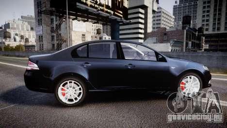 Ford Falcon FG XR6 Unmarked Police [ELS] v2.0 для GTA 4 вид слева