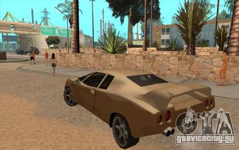 GTA VC Infernus SA Style для GTA San Andreas вид изнутри