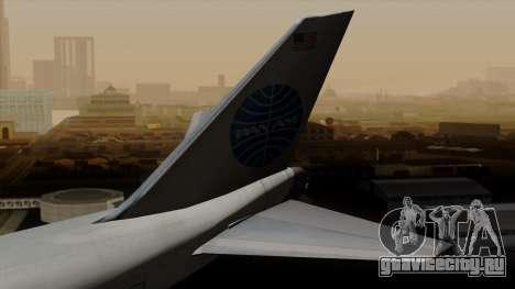Boeing 747 PanAm для GTA San Andreas вид сзади слева