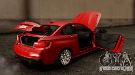 BMW M235i F22 Sport 2014 для GTA San Andreas вид снизу