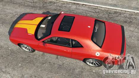 Dodge Challenger SRT8 2009 v0.1 [Beta] для GTA 5 вид сзади