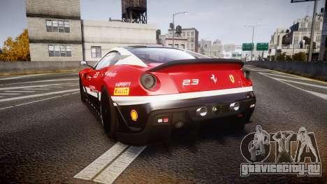 Ferrari 599XX 2010 Scuderia Ferrari для GTA 4 вид сзади слева