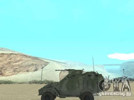 БТР 40 для GTA San Andreas вид изнутри