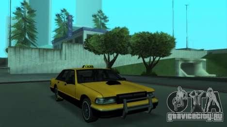 New Taxi для GTA San Andreas вид слева