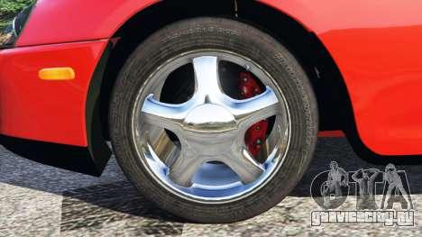 Toyota Supra RZ 1998 для GTA 5 вид сзади справа