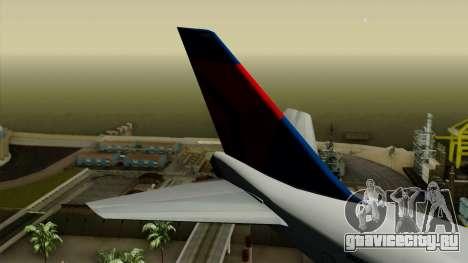Boeing 747 Delta для GTA San Andreas вид сзади слева