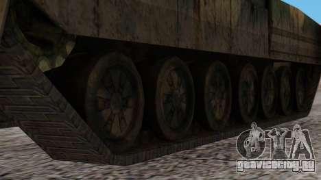 T-95 from Arctic Combat для GTA San Andreas вид сзади слева