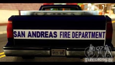 FDSA Brush Patrol Car для GTA San Andreas вид сзади слева