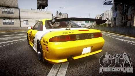 Nissan Silvia S14 TOKICO для GTA 4 вид сзади слева