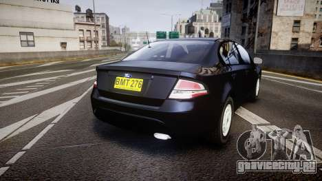 Ford Falcon FG XR6 Unmarked NSW Police [ELS] для GTA 4 вид сзади слева