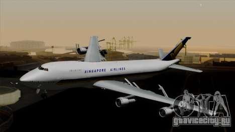 Boeing 747 Singapore (Old) для GTA San Andreas