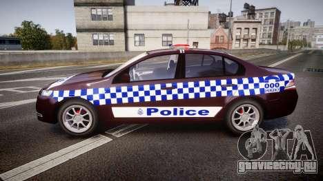 Ford Falcon FG XR6 Turbo NSW Police [ELS] v3.0 для GTA 4 вид слева