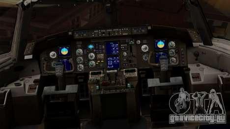 Boeing 757-200 (N757A) для GTA San Andreas вид изнутри