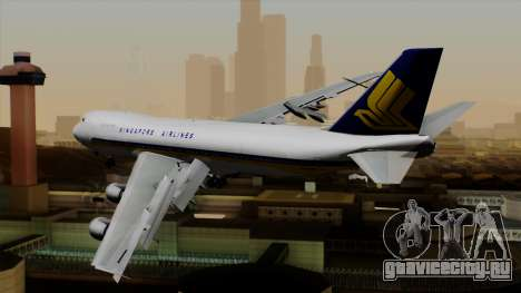 Boeing 747 Singapore (Old) для GTA San Andreas вид слева