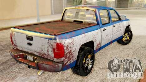Chevrolet Silverado 2010 TLoU Edition для GTA San Andreas вид сзади слева