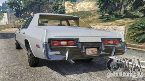 Dodge Monaco 1974 [Beta] для GTA 5 вид сзади слева