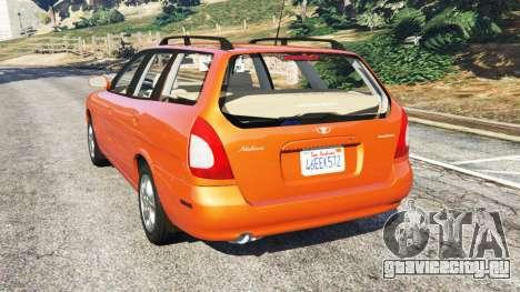 Daewoo Nubira I Wagon CDX US 1999 для GTA 5 вид сзади слева