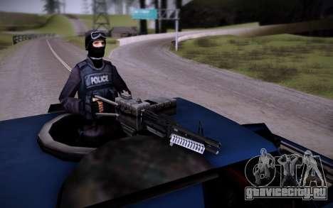 Броневик Huntley для GTA San Andreas вид изнутри