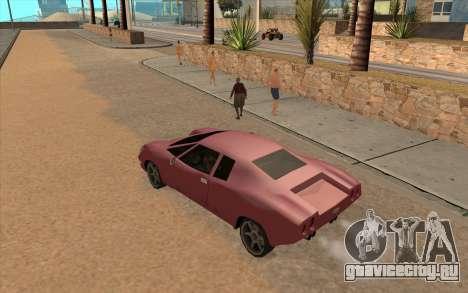 GTA VC Infernus SA Style для GTA San Andreas вид сзади слева