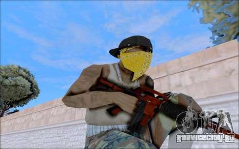 M4A1 Crimzone для GTA San Andreas четвёртый скриншот
