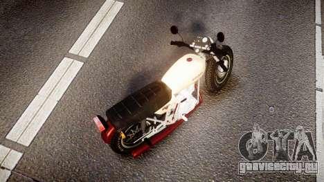 Honda CB-100 для GTA 4 вид сзади слева