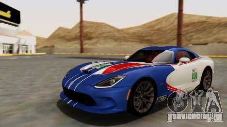 Dodge Viper SRT GTS 2013 HQLM (HQ PJ) для GTA San Andreas вид сбоку