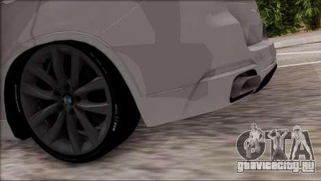 BMW X5 F15 BUFG Edition для GTA San Andreas вид изнутри