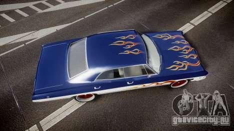 Chevrolet Impala 1967 Custom livery 3 для GTA 4 вид справа