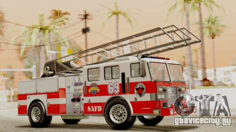 SAFD Fire Lader Truck Flat Shadow для GTA San Andreas