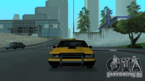 New Taxi для GTA San Andreas вид снизу