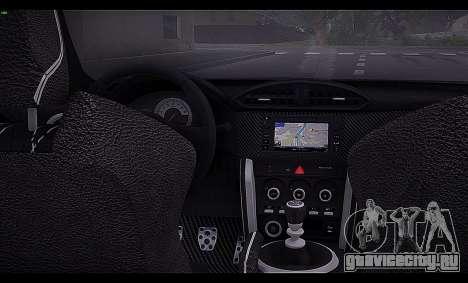 Toyota GT86 2012 BUFG Edition для GTA San Andreas вид изнутри