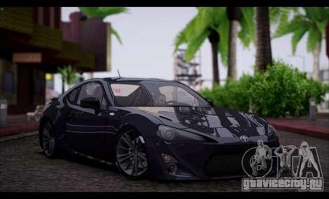Toyota GT86 2012 BUFG Edition для GTA San Andreas