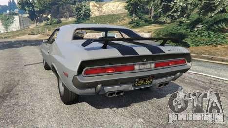 Dodge Challenger RT 440 1970 v0.8 [Beta] для GTA 5 вид сзади слева