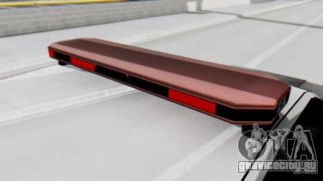 Police LS with Lightbars для GTA San Andreas вид сзади